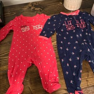 Carters Infant sleepers size 0-3 months